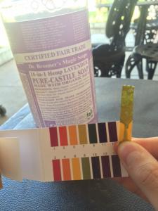 Dr. Bronner's soap pH