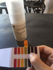 pH of Paula's choice aha 8% gel