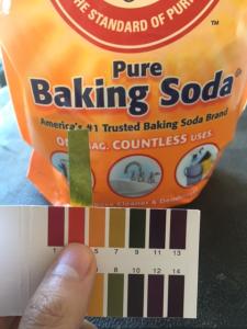 pH of baking soda