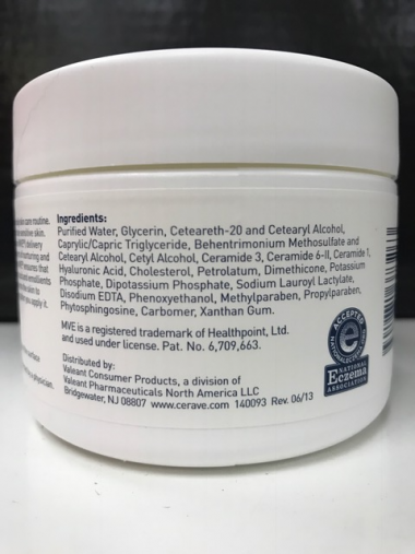 cerave cream ingredients