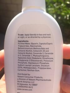 cerave pm ingredients