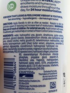 gold bond lotion ingredients
